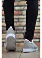 Riccon Siyah Kırmızı Erkek Sneaker 0012105 Beyaz